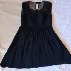 Torrid Black Dress Floral Mesh Sweetheart …